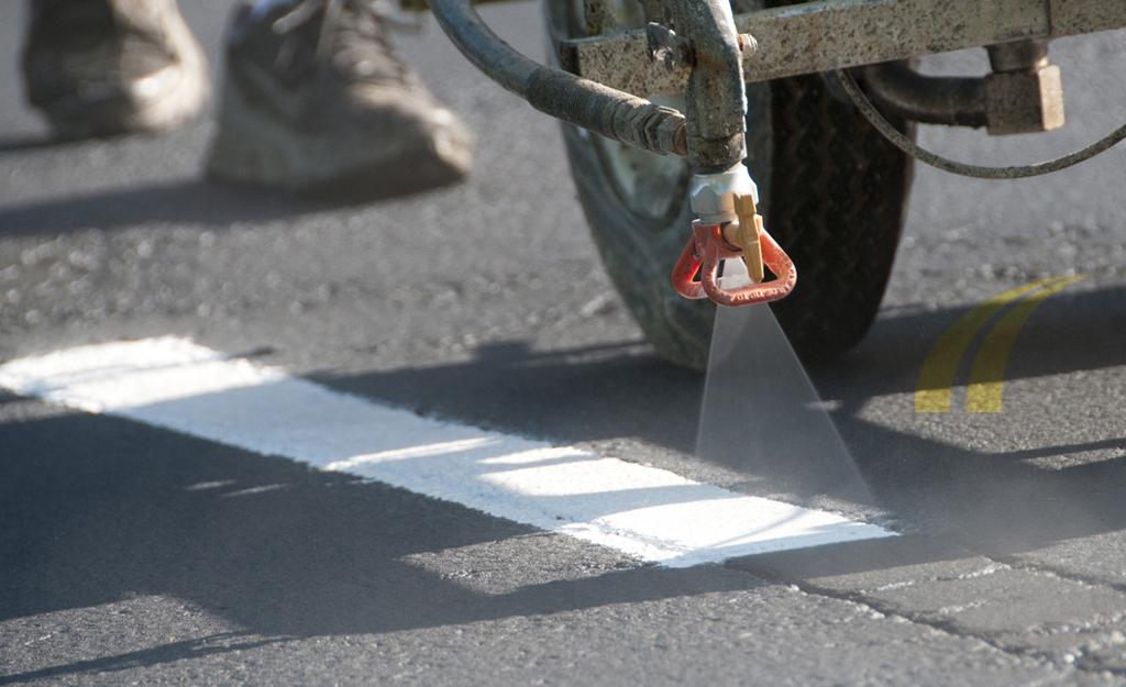 Paving Asphalt Pavement Striping For Parking Lots